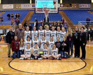 2018 Girls Basketball team, Coaches and stats at State Girls basketball in Minot, ND